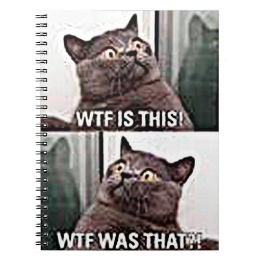 Funny Cat Note Book