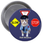 Funny Cat Officer/Hall Monitor Badge