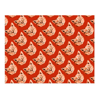 funny cat patterning postcard