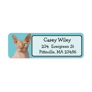Funny Cat Photo Return Address Label