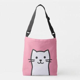 Funny cat portrait crossbody bag