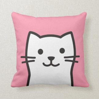 Funny cat portrait cushion