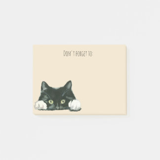funny cat post it notes black cat
