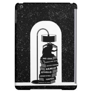 Funny Cat Reading Shakespeare Plays Cover For iPad Air