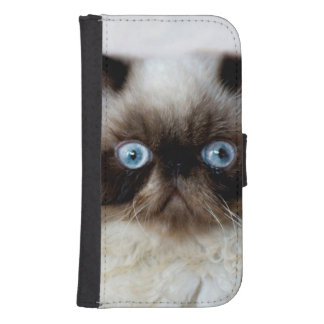 Funny Cat Samsung Galaxy S4 Wallet Case