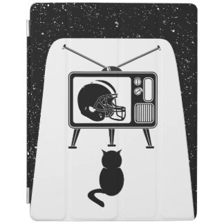 Funny cat watching American football iPad Cover