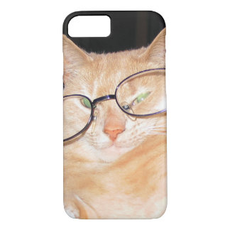 Funny Cat with Glasses iPhone 7 Hard cases