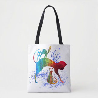 Funny cats family Tote Bag