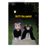 Funny Cats Halloween Greeting Card