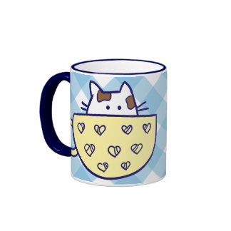 Funny cats in cups mug