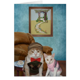 Funny Cats/Kitties Father's Day Card