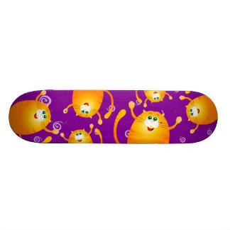 Funny cats, skate skateboard