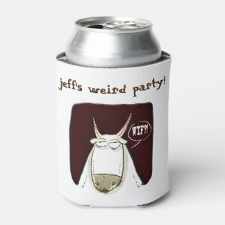 funny cattle weird party wtf cartoon can cooler