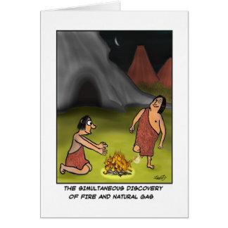 Funny Caveman Card