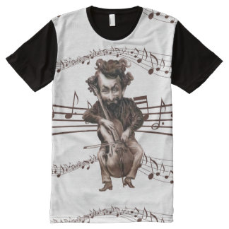 Funny Cello Musician for Music Lover All-Over Print T-Shirt