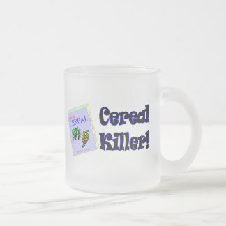 Funny Cereal Killer T-shirts Gifts Frosted Glass Mug