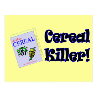 Funny Cereal Killer T-shirts Gifts Postcards