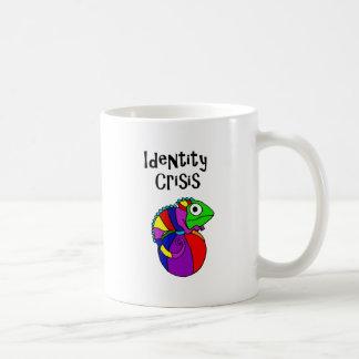 Funny Chameleon on Beach Ball Identity Crisis Coffee Mug