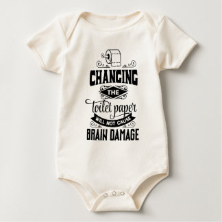 Funny Changing the Toilet Paper Joke Bodysuit