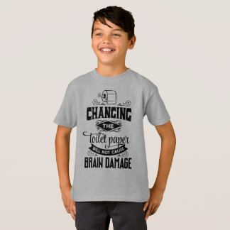 Funny Changing the Toilet Paper Joke Tagless Shirt