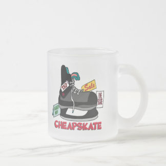 Funny Cheapskate T-shirts Gifts Frosted Glass Mug