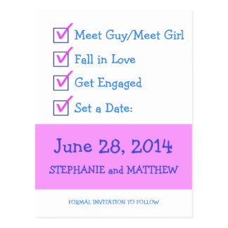 Funny Checklist Save the Date Postcard