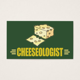 Funny Cheese CHEESEOLOGIST Wisconsin Business Card
