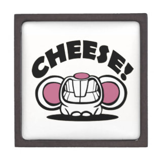Funny Cheese Mouse Premium Jewelry Box