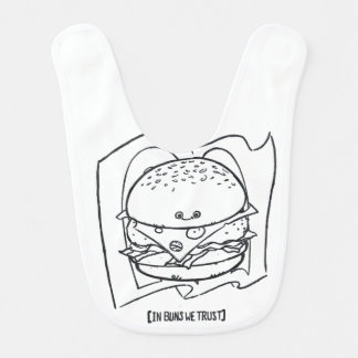 Funny Cheeseburger Baby bib