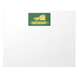 Funny CHEESEOLOGIST Cheese Making Cheesehead Notepad