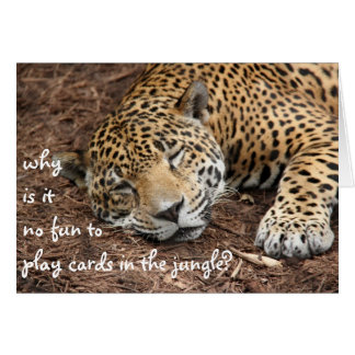 Funny Cheetah card, customise for any occasion Card