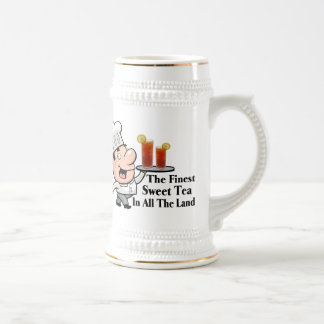 Funny Chef With The Finest Sweet Tea 18 Oz Beer Stein