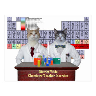 Funny Chemistry Cats Postcard