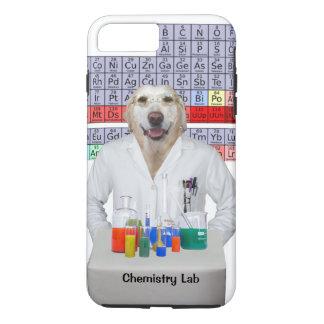 Funny Chemistry Lab/Dog iPhone 7 Plus Case