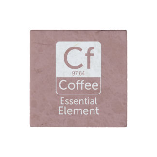 Funny Chemistry Pun Joke coffee essential elem Stone Magnet
