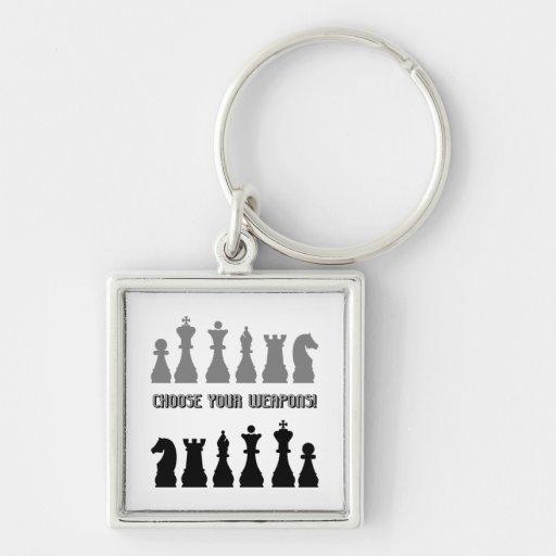 funny chess key chain