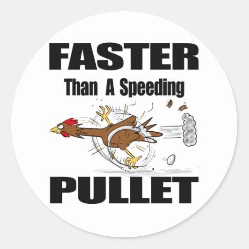 Funny chicken cartoon round stickers