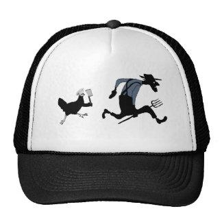 Funny chicken farmer cap