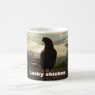 Funny Chicken in backlight 01.4.T Coffee Mug