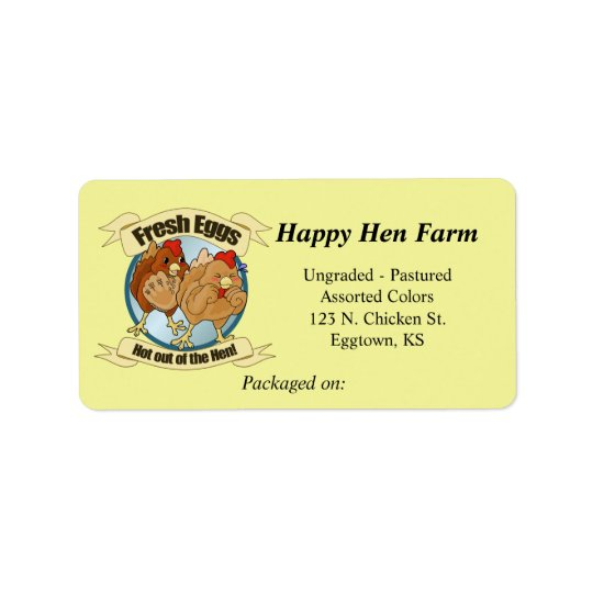 Funny Chickens Egg Label