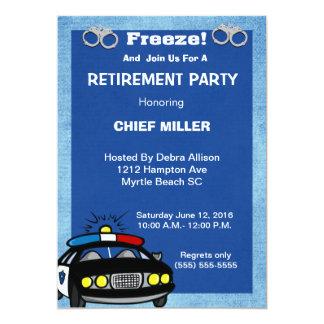 Funny Chief of Police Retirement Invitation