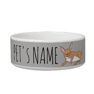 Funny Chihuahua Pet Name Bowl