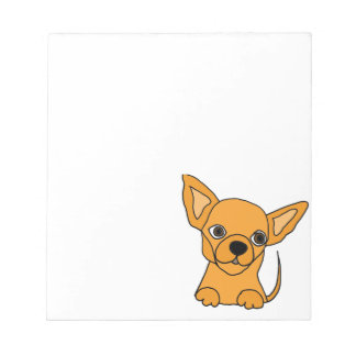 Funny Chihuahua Puppy Dog Notepad