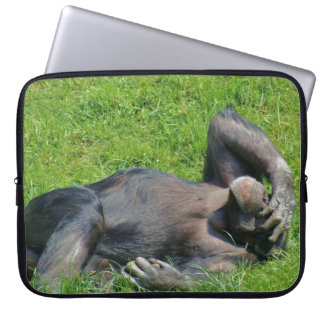 Funny Chimpanzee Animal Laptop Sleeve