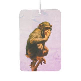 Funny Chimpanzee Baby Car Air Freshener