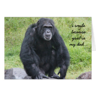 Funny Chimpanzee Father's Day Card