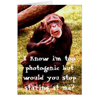 Funny chimpanzee greeting card