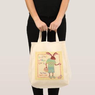 Funny Chocolate Bunny Easter Egg Hunt Tote Bag
