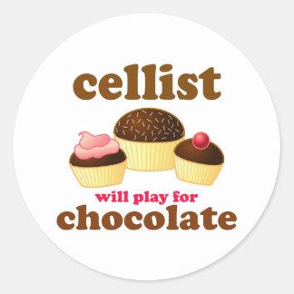 Funny Chocolate Cello Sticker