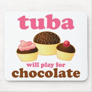 Funny Chocolate Tuba Mouse Pad